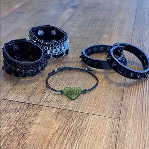 Bundle of adjustable bracelets and cuffs!